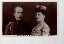 REF 370 - CPA Grecque Grece Hellas Greece GREC Le Roi Constantin Et La Reine Sophia - Greece