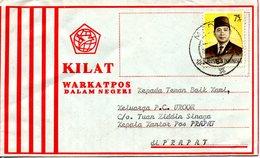 INDONESIE. N°707 De 1974 Sur Enveloppe Ayant Circulé. Président Suharto. - Indonesien