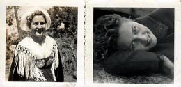 2 Petites Photos Originales Portrait De La Pin-Up Mimi En 1943 - Billet Doux, Pour Amoureux & En Costume Breton - Pin-up