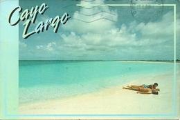 "Cayo Largo (Cuba) La Playa, The Beach, Der Strand, Thematic Stamp ""Barcelona '92, Pugilato"" - Cuba"