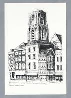 NL.- ROTTERDAM. Grote Markt. 1930. Pentekening. - Schone Kunsten