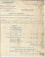 VARSOVIE LIMANOWA RAFFINERIE MINES DE PETROLE EN POLOGNE ANNEE 1920 - Factures & Documents Commerciaux