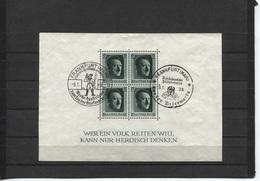 Deutsches Reich Block 7 Mit 2 Versch. Sonderstempeln Frankfurt  9.1.38 Tag Der Briefmarke - Blocks & Kleinbögen