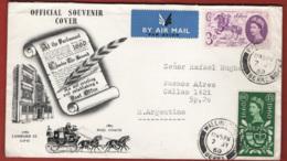 Gran Bretagna 1960 FDC General Letter Office Unif.355/56 Via Aerea VF - FDC