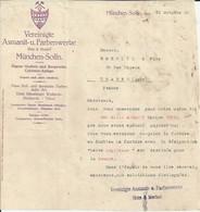 MUNCHEN SOLLN VEREINIGTE ASMANIT U FARBENWERKE ANNEE 1929 - Allemagne