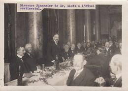 PHOTO ORIGINALE ( 13X18 ) Discours Financier De Mr KLETZ A L Hotel Cotinental - Personnes Identifiées
