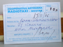 Radiotaxi Mestre Ricevuta 2006 - Italia