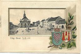 1905 - Uhersky Brod , WAPPEN GEPRAGT, Gute Zustand, 2 Scan - Czech Republic