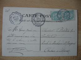 Bussy Le Piree Cachet Perle Facteur Boitier Obliteration Sur Lettre - Marcophilie (Lettres)