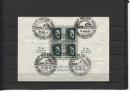 Deutsches Reich Block 11 Sonderstempel (5x) Adolf-Hitler-Koog 20.4.38 - Blocks & Kleinbögen