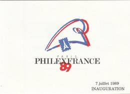 """Document """"PHILEXFRANCE"""" Rassemblant Les TP. """"Liberté-Egalité-Fraternité"""" - T. à D. Du Jour De L'inauguration De L'Expo.. - Documents Of Postal Services"""
