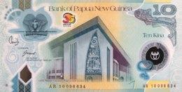 Papua New Guinea 10 Kina, P-40 (2010) - UNC - 35 Years Independence - Papua-Neuguinea