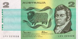 Australia 2 Dollar, P-43e (1985) - UNC - Dezimale Regierungsausgaben 1966-...