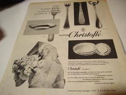 ANCIENNE PUBLICITE ORFEVRIE CHRISTOFLE 1956 - Autres