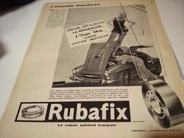 ANCIENNE  PUBLICITE ACTUALITE SALON DE L AUTO  RUBAFIX 1959 - Publicités