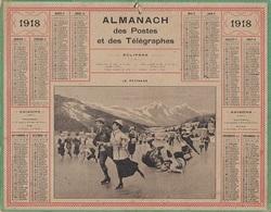 ALMANACH DES POSTES 1918 - FORMAT LIVRET CARTONNE SIMPLE - INCOMPLET JUSTE LE DEVANT VERSO INDICATION POSTALE. - Big : 1941-60