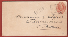 Indie Olandesi 1895 Post Card 10c To Batvia 18/04/95 VF/F - Niederländisch-Indien