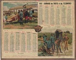 ALMANACH DES POSTES 1918 - FORMAT LIVRET CARTONNE SIMPLE - COMPLET - DEPARTEMENT DE L'AIN - AVIATION MILITAIRE. - Big : 1941-60