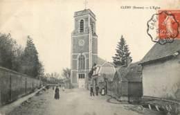 80 - CLERY - Eglise En 1912 - Cachet Ambulant De Cambrai à Chaulnes - Carte Peu Courante - Otros Municipios