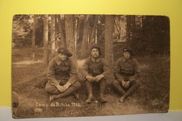 MILITARIA   -  Camp De  BITCHE 1928 - Chasseurs Alpins    - ( Pas De Reflet Sur L'original ) - Manoeuvres