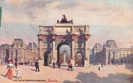 OILETTE  PARIS Série 110  N°68  ........... Arc De Triomphe Du Carroussel ........ Un Mot à La Poste - Tuck, Raphael