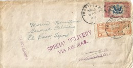USA 1938 Providence Special Delivery Air Mail Cover El Paso - Luchtpost