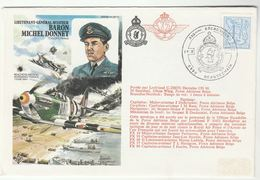 1979 BELGIUM Special LOCKHEED FLIGHT COVER Illus NORMANDY BEACHEAD 1944 Wwii Aviation Stamps - Covers & Documents