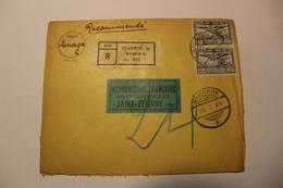 Lettre Recommandée De THAILANDE- Voyagée De Banckok à St Etienne En 1925 - Thaïlande