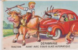HUMOUR - DEPANNAGE DE VOITURE - TRACTION AVANT AVEC ESSUIE GLACE AUTOMATIQUE - Humour