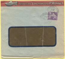 FRANCIA - France - 1928 - 40c Semeuse - Seul - Saboterie Chaumontaise P.Renaut - Viaggiata Da Chaumont - Storia Postale