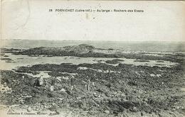 Pornichet (123), Au Large - Rochers Des Evens, Jolie Carte - Pornichet