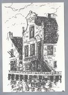 NL.- OUDE SLUIS, Tekening HENK DE HAAN. Uitgave: Kunstnijverheid 't Sluske - Lemmer. - Schone Kunsten