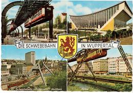 CPSM ALLEMAGNE RHENANIE-DU-NORD-WESTPHALIE WUPPERTAL - Multivues Métro Aérien - 1966 - Wuppertal