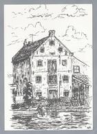 NL.- OUD LEMMER, Tekening HENK DE HAAN. Uitgave: Kunstnijverheid 't Sluske - Lemmer. - Schone Kunsten