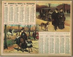ALMANACH DES POSTES 1917 - FORMAT LIVRET CARTONNE SIMPLE - INCOMPLET - DEVANT SEULEMENT VERSO UNE CARTE DES REGIONS. - Calendars