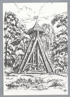 NL.- KLOKKESTOEL EESTERGA, Tekening HENK DE HAAN. Uitgave: Kunstnijverheid 't Sluske - Lemmer. - Schone Kunsten