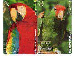 Israel - 2 Cards - Parrot - Papagei - Ara - Bird - Vogel - Israel