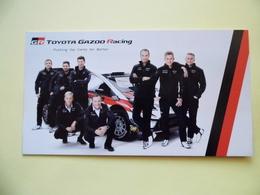 WRC - Carte  -  Team Toyota Gazoo Racing - Tommi Mäkinen- Latvala - Tanak - Dim 20* 10.5 Cm - Automobile - F1
