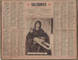 ALMANACH DES POSTES 1917 - FORMAT LIVRET CARTONNE SIMPLE - INCOMPLET - DEPARTEMENT DES PYRENEES-ORIENTALES - Calendars