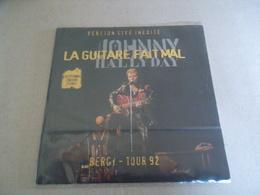 VINYLE 45 T JOHNNY HALLYDAY  LA GUITARE FAIT MAL BERCY TOUR 92 VERSION LIVE INEDITE - Rock
