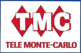 TMC TELE MONTE CARLO * TV TELEVISION * AUTOCOLLANT A611 * - Autocollants