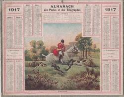 ALMANACH DES POSTES 1917 - FORMAT LIVRET CARTONNE SIMPLE - INCOMPLET - DEVANT - VERSO QUELQUES INFORMATIONS. - Big : 1941-60