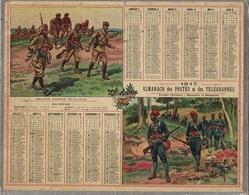 ALMANACH DES POSTES 1917 - FORMAT LIVRET CARTONNE SIMPLE - COMPLET - DEPARTEMENT DU RHONE - TROUPES AFRICAINES . - Calendars