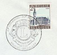 1967 BELGIUM COVER EVENT Pmk LIONS INTERNATIONAL  Illus LION Lions, Stamps Lions Club - Rotary, Lions Club