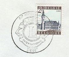 1967 BELGIUM COVER EVENT Liege LIONS INTERNATIONAL  Illus LION Lions, Stamps Lions Club - Rotary, Lions Club