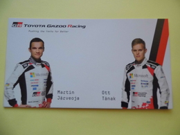 WRC - Carte  -  Team Toyota Gazoo Racing - Järveoja - Tänak - Dim 20* 10.5 Cm - Automobile - F1