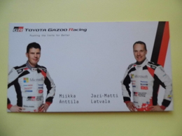 WRC - Carte  -  Team Toyota Gazoo Racing - Latvala- Anttila  - Dim 20* 10.5 Cm - Car Racing - F1