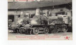 Les Locomotives (P.L.M.)  Machine N°C.44 1er Type à Coupe Vent Pour Trains Express. - Trains