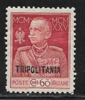 Tripolitania, Scott # 17 Mint Hinged Italy Victor Emmanuel, Overprinted, 1925 - Tripolitania