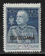 Tripolitania, Scott # 18a Mint Hinged Perf 13 1/2 Italy Victor Emmanuel, Overprinted,1925 - Tripolitania